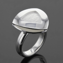 Silver ring with our unique hammer texture