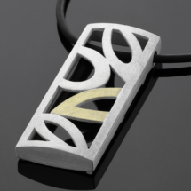 silver-gold pendant by Zea
