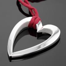 XL silver heart pendant