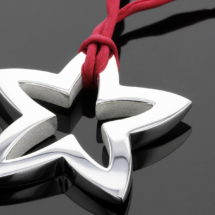 Star pendant in silver