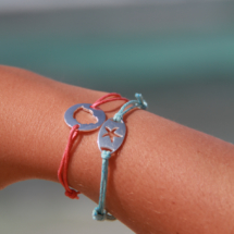 Mauritian beach inspired bracelets in sterling silver