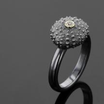 Silver sea urchin ring