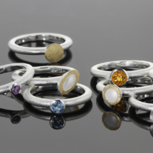 Silver and gold rings made in Mauritius