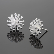 Silver earrings made in Mauritius