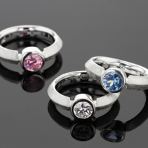 Zirconia set in silver jewellery from Mauritius