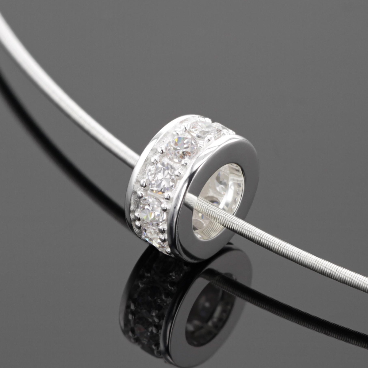 Sterling silver designs with zirconia
