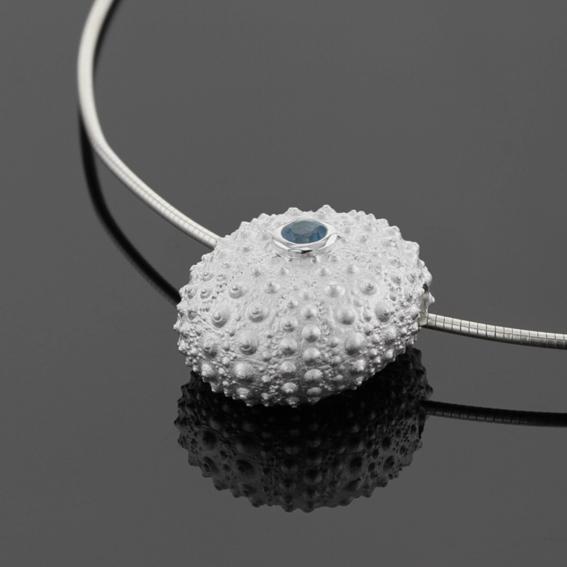 Sterling silver sea urchin designs made in Mauritius