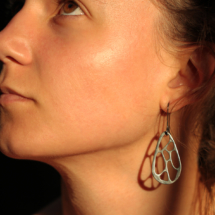 Silver coral earrings Mauritius