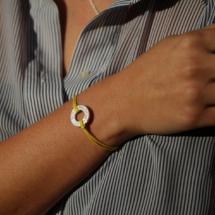 Mauritius coordinates bracelet