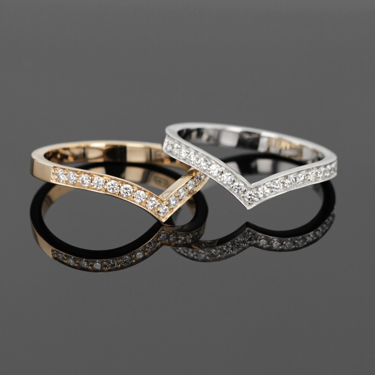 Gold and diamond rings Mauritius