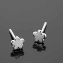 Silver earrings for children