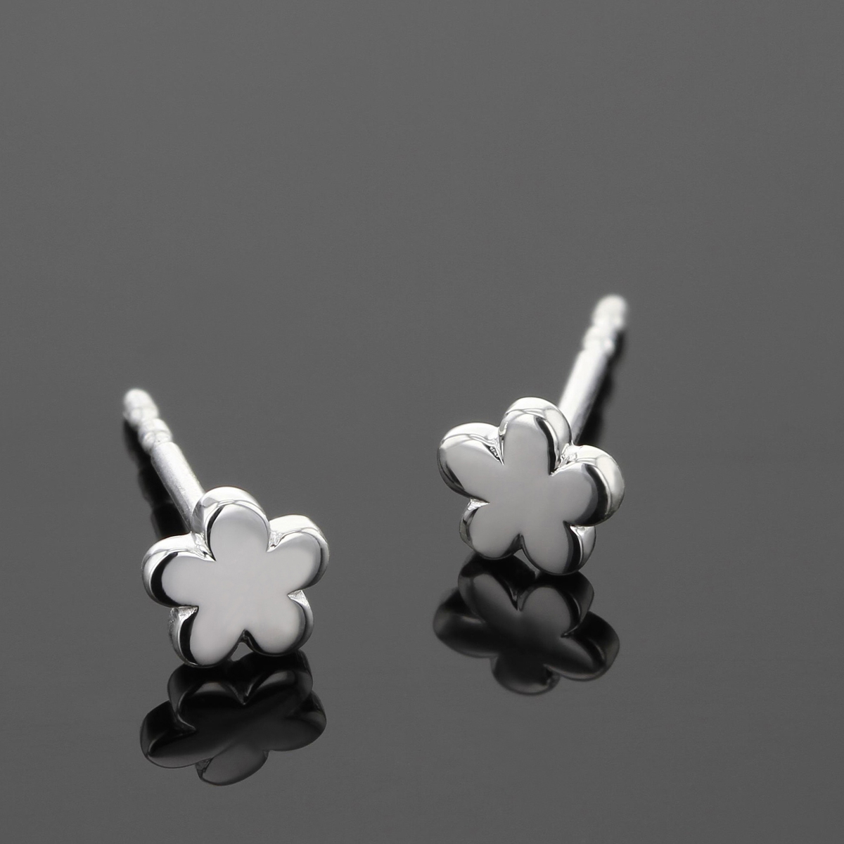 Silver earrings for children