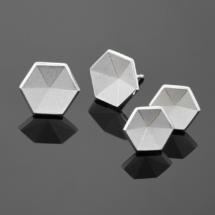 Honeycomb silver earrings