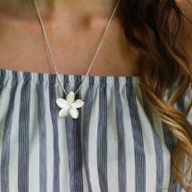 Silver frangipani jewellery Mauritius