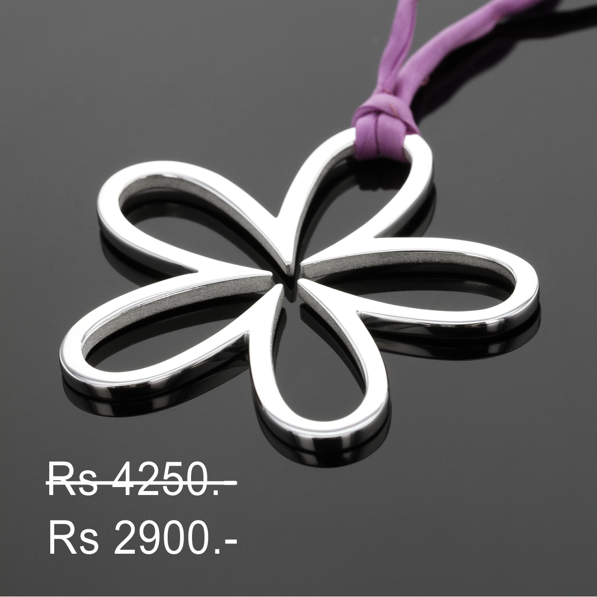 Discounted flower pendant