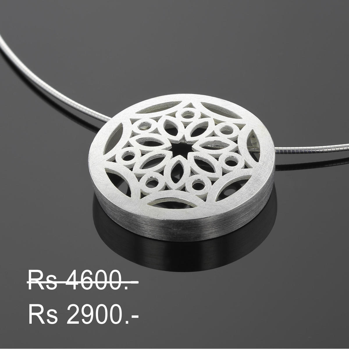Discounted silver pendant