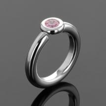 Pink Zirconia ring Mauritius