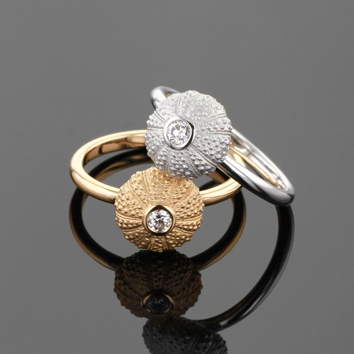 Gold urchin jewellery Mauritius