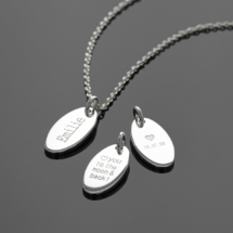 Personalised silver pendants
