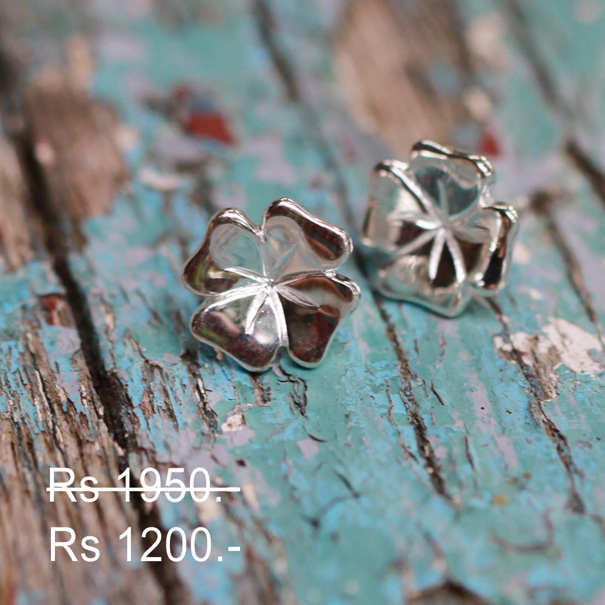 Silver earrings discount
