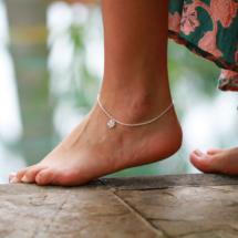 Ankle bracelet flower