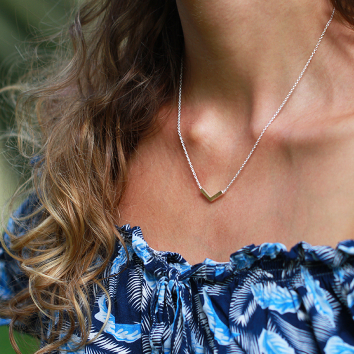 Silver gold collier