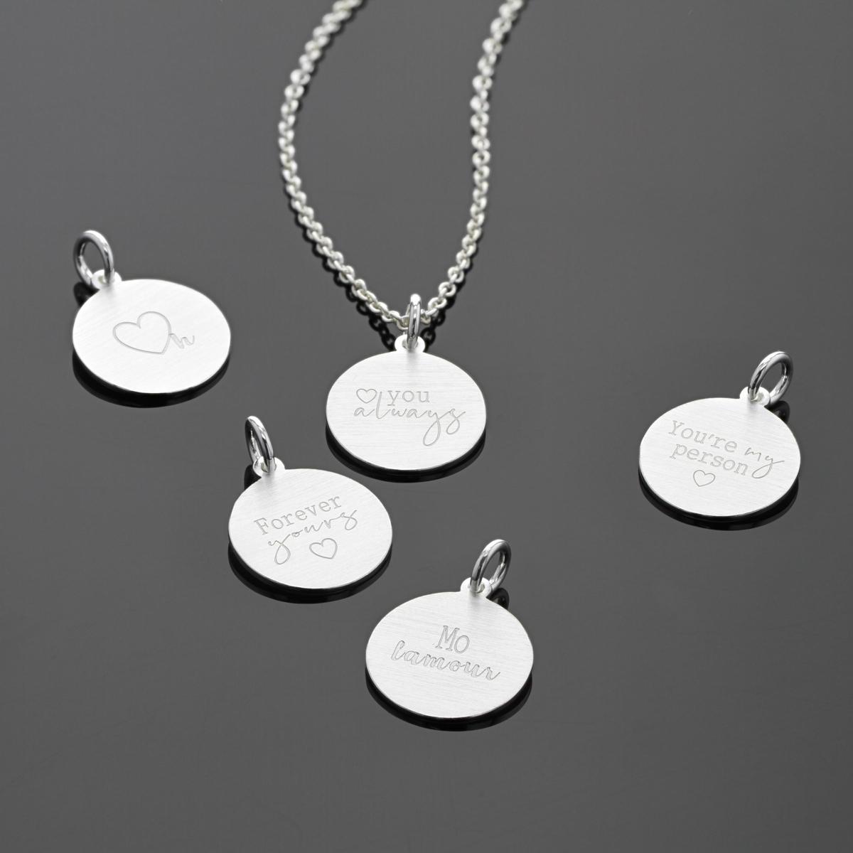 Personalised silver jewellery Mauritius