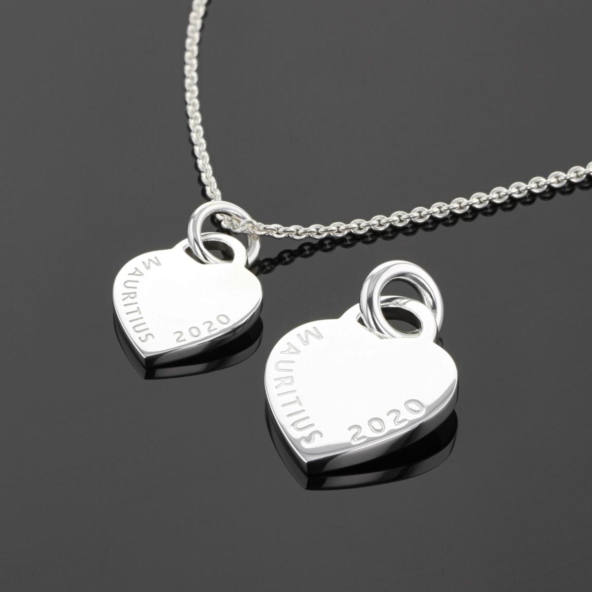 Personalised heart pendants