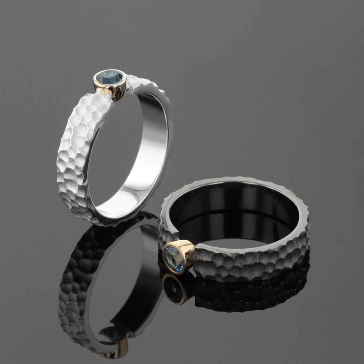 Unique textured rings Mauritius