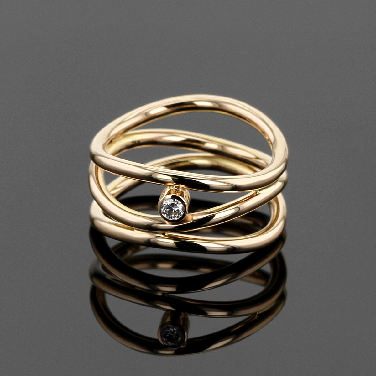 Rose gold diamond ring Mauritius