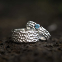 Textured couple rings